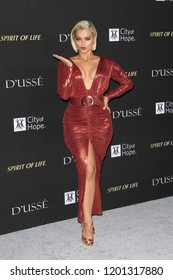 SANTA MONICA - OCT 11: Bebe Rexha at City of Hope Gala 2018 at Barker Hangar on October 11, 2018 in Santa Monica, California