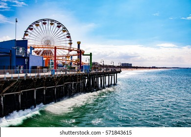 Santa Monica Pier is a large double-jointed pier at the foot of Colorado Avenue in Santa Monica, California.
