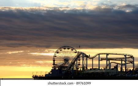 Santa Monica Pier Silhouette