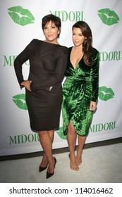 SANTA MONICA - SEP 25: Kris Jenner, Kim Kardashian at the Midori Makeover Parlour at Fred Segal on September 25, 2012 in Santa Monica, California