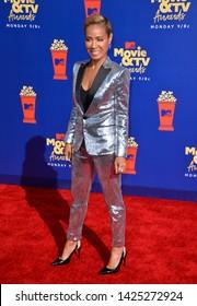 SANTA MONICA, USA. June 16, 2019: Jada Pinkett Smith at the 2019 MTV Movie & TV Awards at Barker Hangar, Santa Monica.Picture: Paul Smith/Featureflash