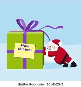 Santa move a great gift.  illustration