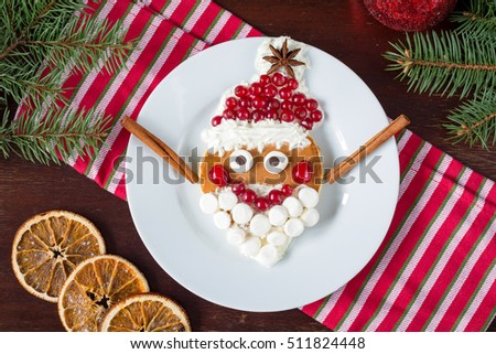 Funny Christmas Breakfast For Kids Creative Idea Children Food