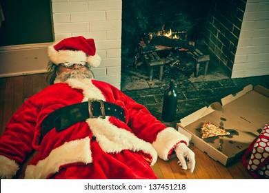 Santa partied too hard at this house.
