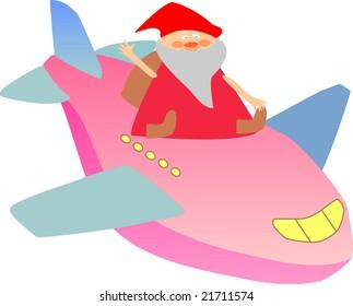 'santa and plane'