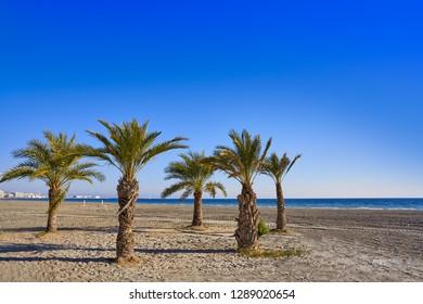 Santa Pola Tamarit beach in Alicante of Spain at Costa Blanca