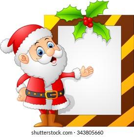 santa presenting blank sign