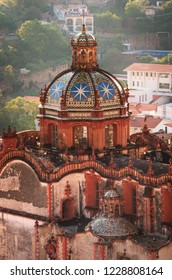 Santa Prisca church in Taxco, Guerrero, Mexico