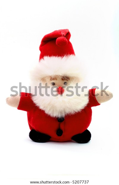 Santa puppet on white a white background