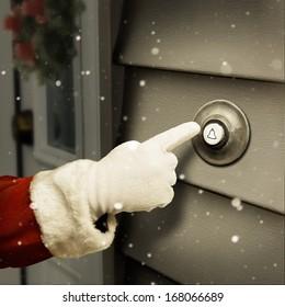 Santa is ringing the door bell