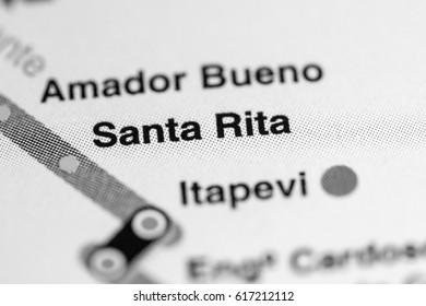 Santa Rita Station. Sao Paolo Metro map.