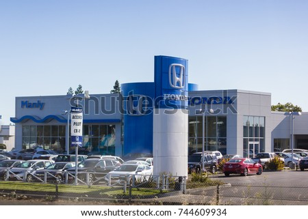 Santa Rosa, CA, USA   July 6,2017 : Sign Of Honda Motor