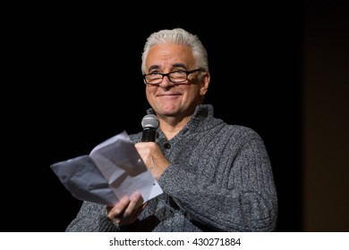 Santa Rosa, CA/USA - 11/15/2015: Actor John O'Hurley emcees at the Putting Out the Fire Benefit in Santa Rosa, Ca.  He is known for the role of J. Peterman on the NBC sitcom Seinfeld.