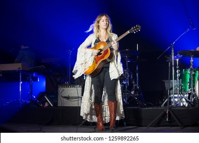 Santa Rosa, CA/USA - 12/16/2018: Margo Price performs at The Emerald Cup. She's an American country artist nomination for Best New Artist at the 61st Annual Grammy Awards.