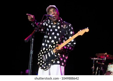 Santa Rosa, CA/USA - 3/18/18: Buddy Guy performs at the Luther Burbank Center.  Guy was ranked 30th in Rolling Stone magazine's Greatest Guitarists list.  He's won seven Grammy Awards.