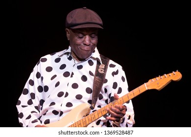 Santa Rosa, CA/USA - 4/12/19: Buddy Guy performs at the Luther Burbank Center. Guy was ranked 30th in Rolling Stone magazine's Greatest Guitarists list. He's won seven Grammy Awards.