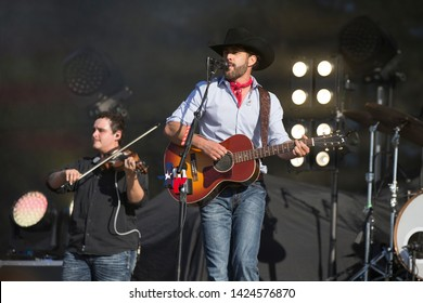 Santa Rosa, CA/USA: 6/14/2019: Aaron Watson performs at Country Summer Music Festival. His 2015 album The Underdog reached No. 1 on Top Country Albums.