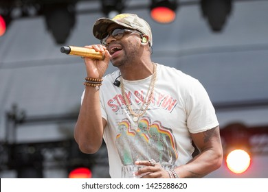 Santa Rosa, CA/USA: 6/15/2019: Jimmie Allen performs at Country Summer Music Festival. His album, Mercury Lane, was release in 2018 and hit #11 on Billboard US Country Charts.