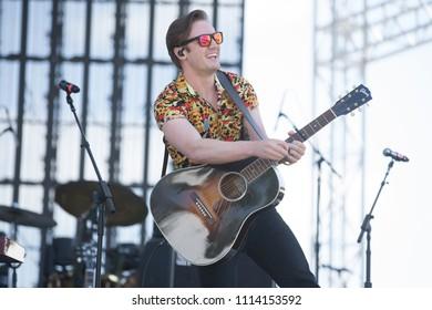 Santa Rosa, CA/USA: 6/16/2018: Dothan Alabama aka Seth Ennis performs at Country Summer Music Festival.