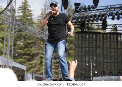 Santa Rosa, CA/USA: 6/16/2018: Tyler Farr performs at Country Summer Music Festival. He charted eight singles on the Billboard Hot Country Songs and Country Airplay charts.