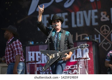 Santa Rosa, CA/USA: 6/16/2019: John Rich of Big & Rich performs at Country Summer Music Festival. They've been nominated for multiple CMA and AMC Awards.