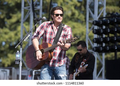 Santa Rosa, CA/USA: 6/17/2018: Joe Nichols performs at Country Summer Music Festival. He has released nine studio albums.  He has been nominated for Grammy Awards and Platinum certified by the RIAA.