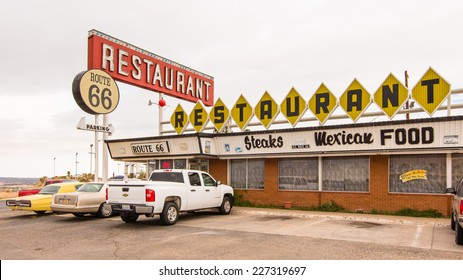 SANTA ROSA, NM/USA - MAY 10, 2013: Route 66 Restaurant and neon sign on Route 66