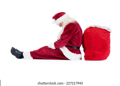 Christmas Santa Sit On My Lap 2-Sided Royal Lion Beach Tote