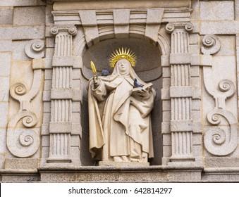 Santa Teresa of Avila Spain. Saint Teresa lived in the 16th Century Avila.  She was a prominent Spanish mystic, a theologian of contemplative life through mental prayer and meditation.