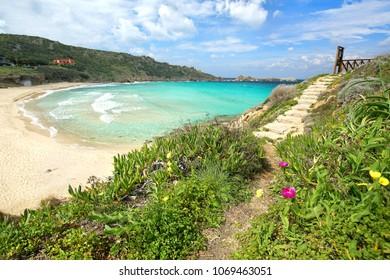 Santa Teresa Gallura, Sardinia, spring on the beach