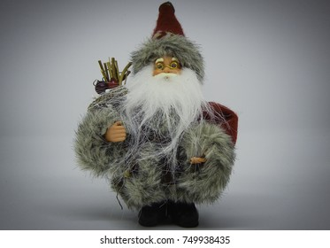 Santa toy, St Nickolas, Mikulas on white background