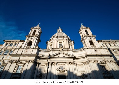 Sant'Agnese in Agone church on Navona square in Rome, Italy
