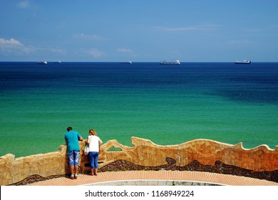 SANTANDER, CANTABRIA, SPAIN, JULY 27, 2018: View of the famous Santander resort in Cantabria, Spain, Europe