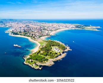 Santander city aerial panoramic view. Santander is the capital of the Cantabria region in Spain