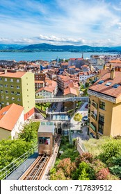 SANTANDER, SPAIN - JUNE 19, 2016: Funicular of Rio de la Pila in Santander, Spain.