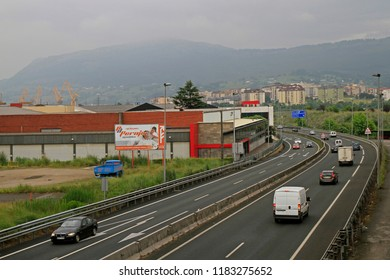 Santander, Spain - May 26, 2018: the picturesque road in spanish region Cantabria close to city Santander