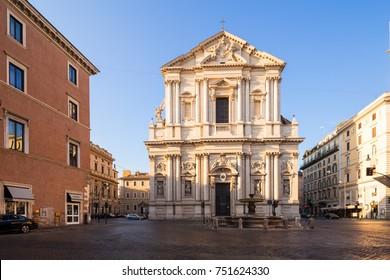 Sant'Andrea della Valle church in Rome, Italy.