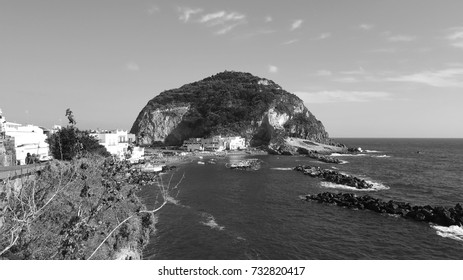 Sant'Angelo - Ischia, black and white - ancient picture look like
