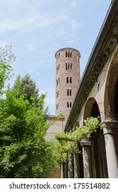 Sant'apollinare nuovo bell tower from the cloister, Ravenna