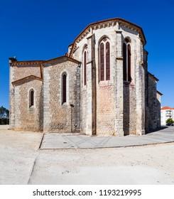 Santarem, Portugal. Apse exterior of the Igreja de Santa Clara Church, in the former Santa Clara Nunnery. 13th century Mendicant Gothic Architecture