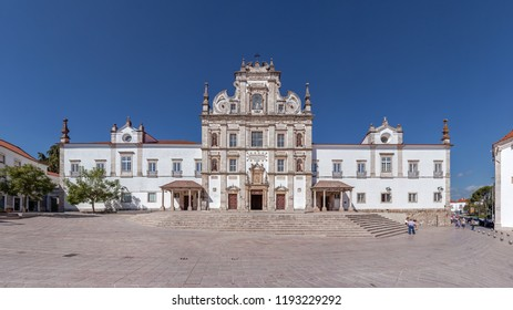 Santarem, Portugal - September 10, 2017: Santarem See Cathedral or Se Catedral de Santarem aka Nossa Senhora da Conceicao Church. Built in the 17th century Mannerist style