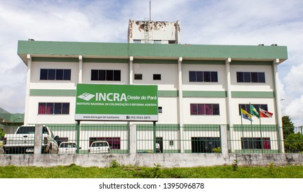 Santarem/Para/Brazil - May 08, 2019: Regional Superintendence of the National Institute of Colonization and Agrarian Reform (INCRA) in Santarem / Para (SR 30)