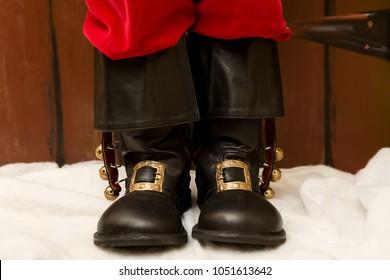 Santa's black boots