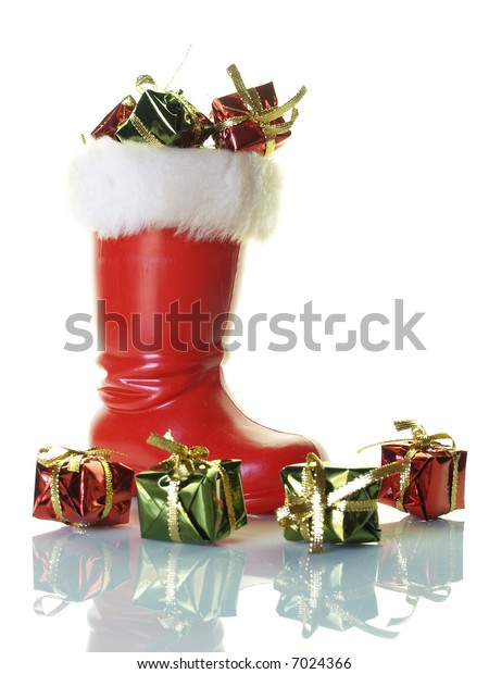 Santa's boot with presents