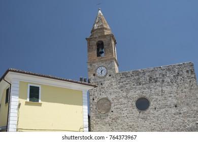 Sant'Egidio alla Vibrata (Teramo, Abruzzi, Italy): medieval church of Sant'Egidio Abate, facade