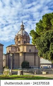 Santi Luca e Martina was an early medieval church, but was rebuilt in 1635 64 by Pietro da Cortona, Rome
