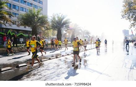 Santiago, Chile. April 07, 2013. Santiago City Marathon.