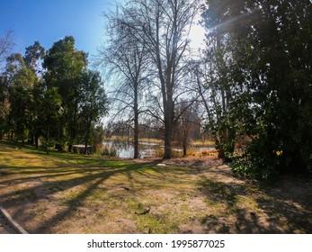 SANTIAGO, CHILE - Jun 18, 2021: Natureza do Chile, dentro da vinicular Concha y Toro