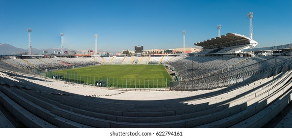 SANTIAGO, CHILE - June 21, 2016:The Estadio Monumental is a soccer Stadium in Santiago.t serves as the home ground of Colo-Colo and has a current spectator capacity of 47,347