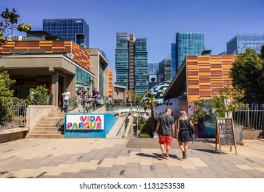 SANTIAGO, CHILE - NOV 12, 2017: Las Condes Kidzania and Commercial Center